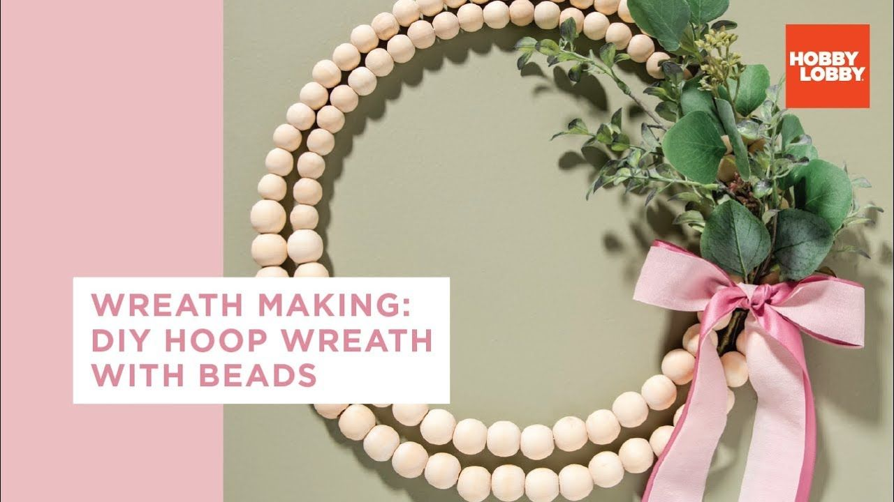 Photo of How to make a wreath – DIY tire wreath with pearls Hobby Lobby®