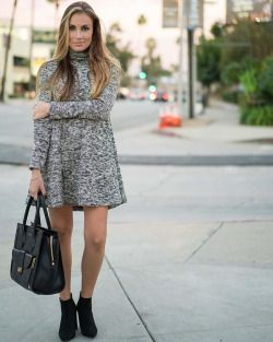 mrandmrs2015:  The cutest sweater/swing dress today #ontheblog! Visit angelalanter.com now to check out this look… Both the dress and shoes are UNDER $35! Fall staple pieces that are major bargains! www.liketk.it/1UmPs #liketkit #hellogorgeous #ltkunder50 by angelalanter