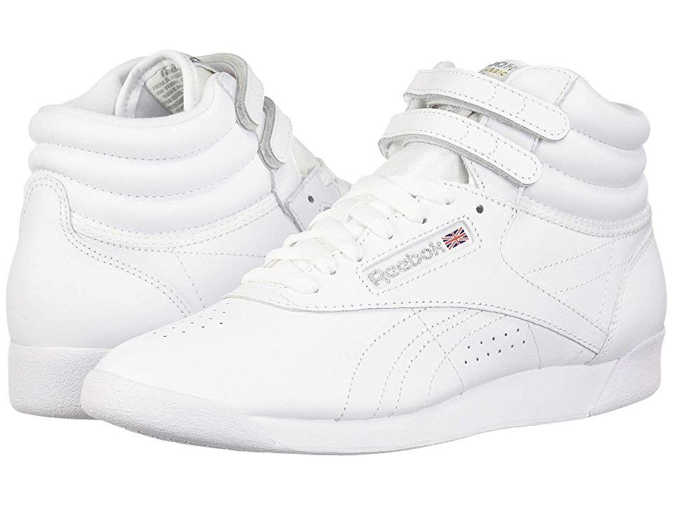 newest new arrivals sale Reebok Lifestyle Freestyle Hi Women's Classic Shoes White/Silver ...