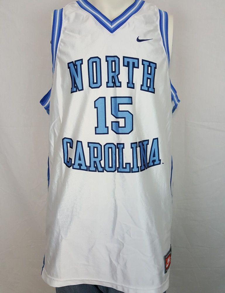 3a813b64b12 North Carolina Tar Heels UNC Vince Carter #15 Basketball NCAA Nike Jersey  XL #Nike