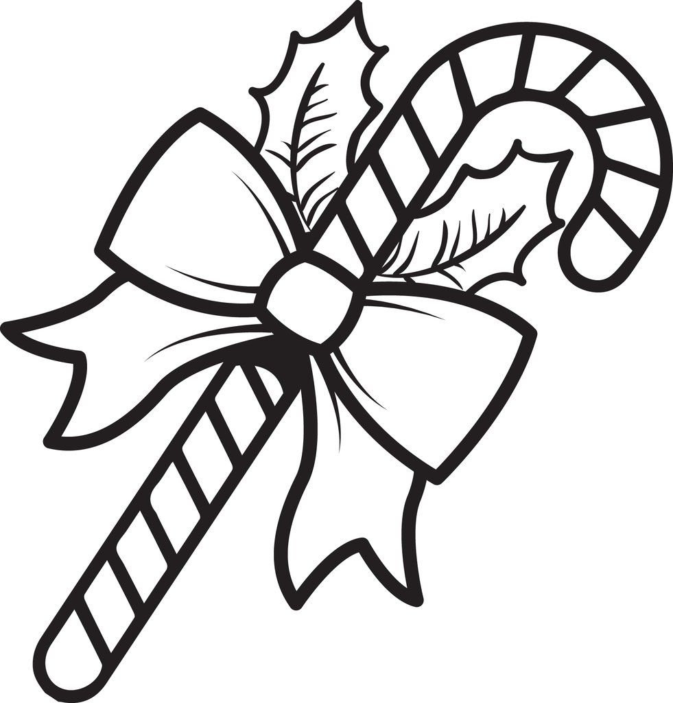 Printable Candy Cane Coloring Page For Kids Candy Cane Coloring