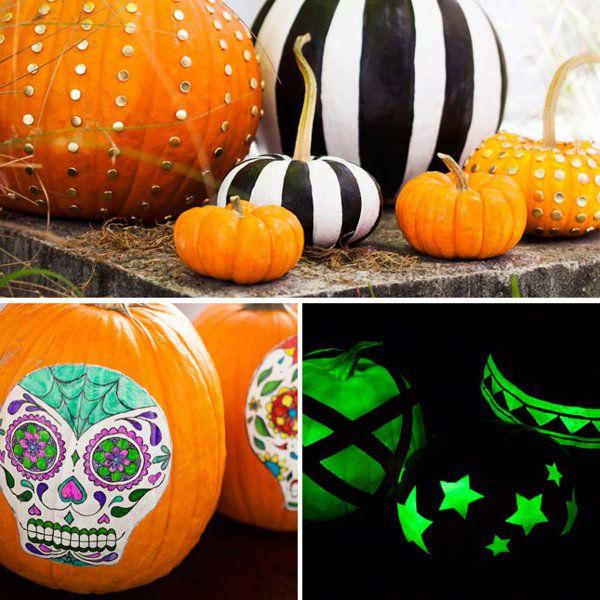 4 Clever Ways to Make No-Carve Pumpkins