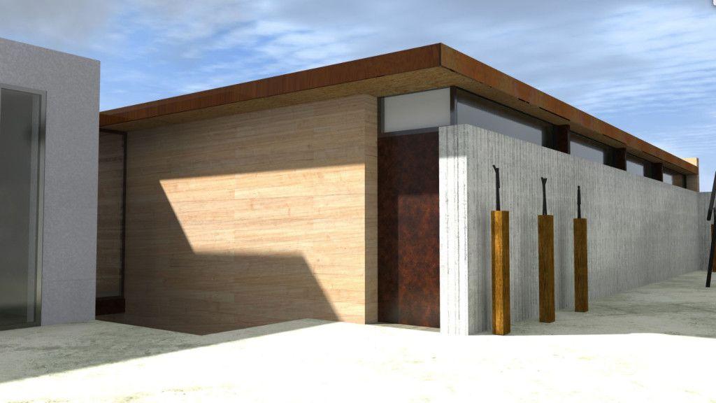 maison-bois-architecte-azzaro-paca-ossaturebois-contemporaine-entree - entree de maison contemporaine