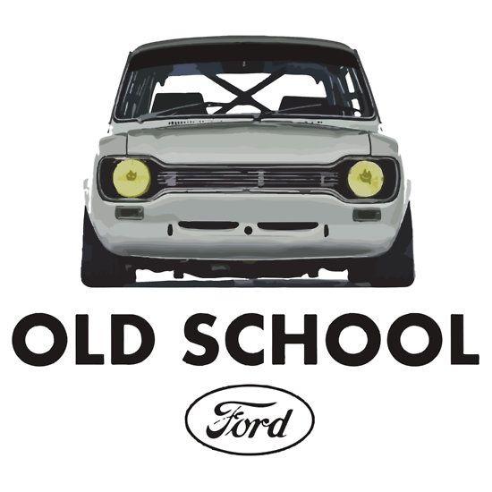 Old School Ford Escort Mk1 Men S T Shirts English Cars