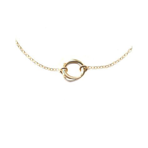 Single Clustered Circle Necklace, GF