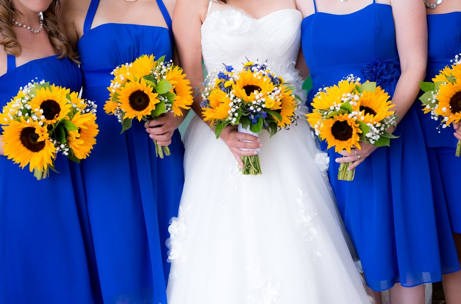 Royal Blue Sunflower Yellow Summer Wedding Summer Wedding