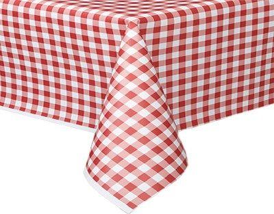 Rød og Hvid Ternet Papirsdug - Single