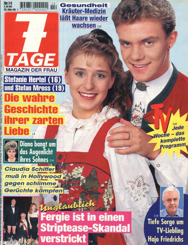 7 TAGE Magazin für die Frau, Nr. 14 von 1995 FERGIE
