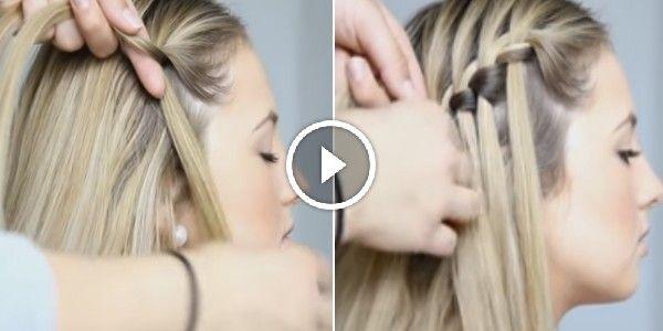 Como Hacer Una Trenza En Cascada Paso A Paso Video Paso A Paso Peinados Hair Styles Cute Braided Hairstyles Braided Hairstyles