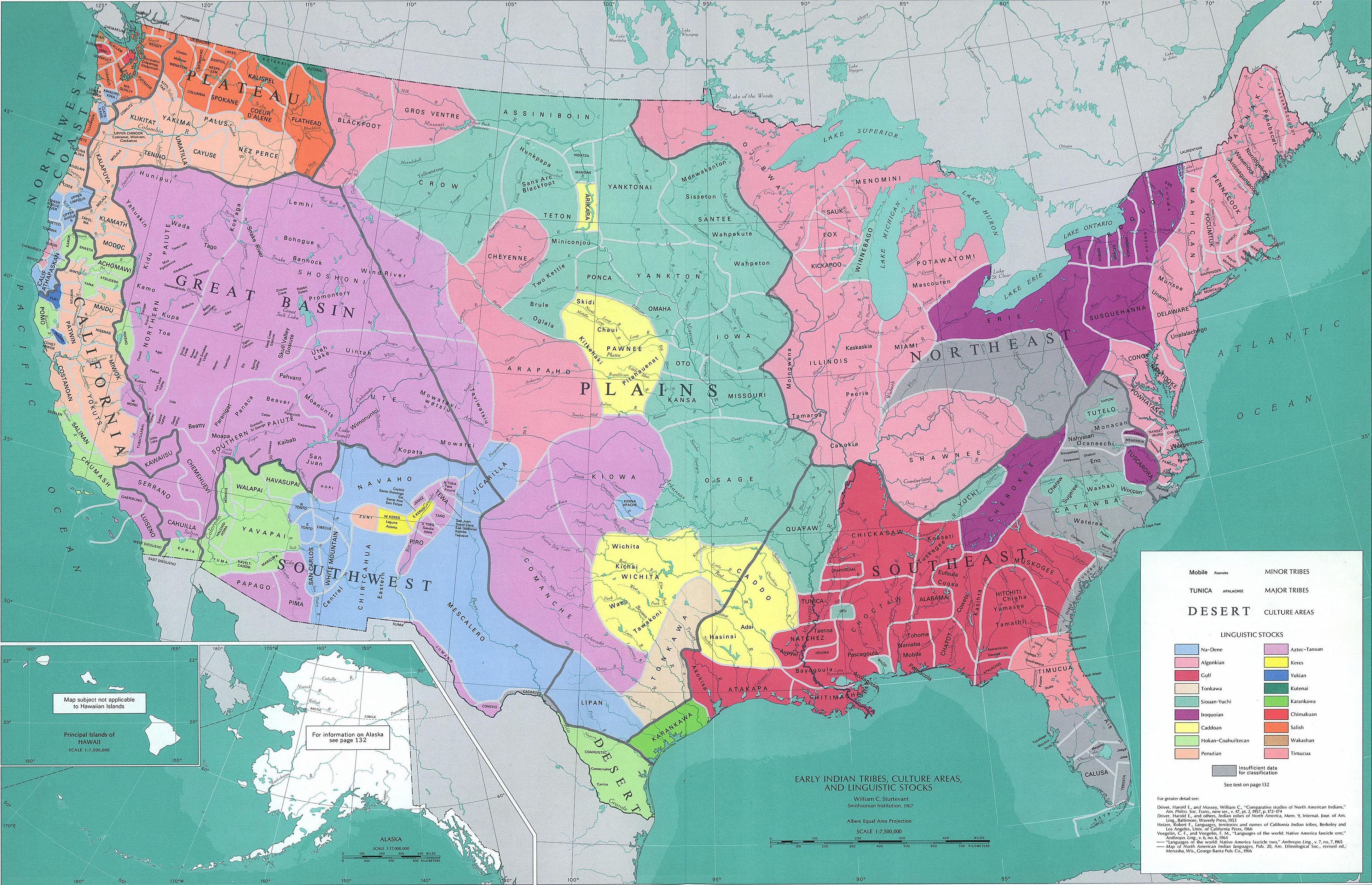 Map Of The Native American Peoples In The United States Google - Map alaska superimposed us