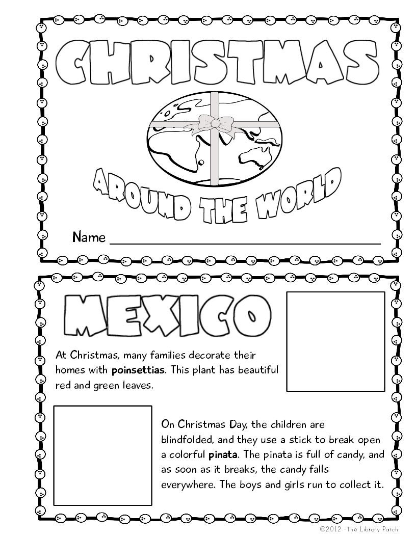 Christmas Around the World Mini Book Activity | Book projects ...
