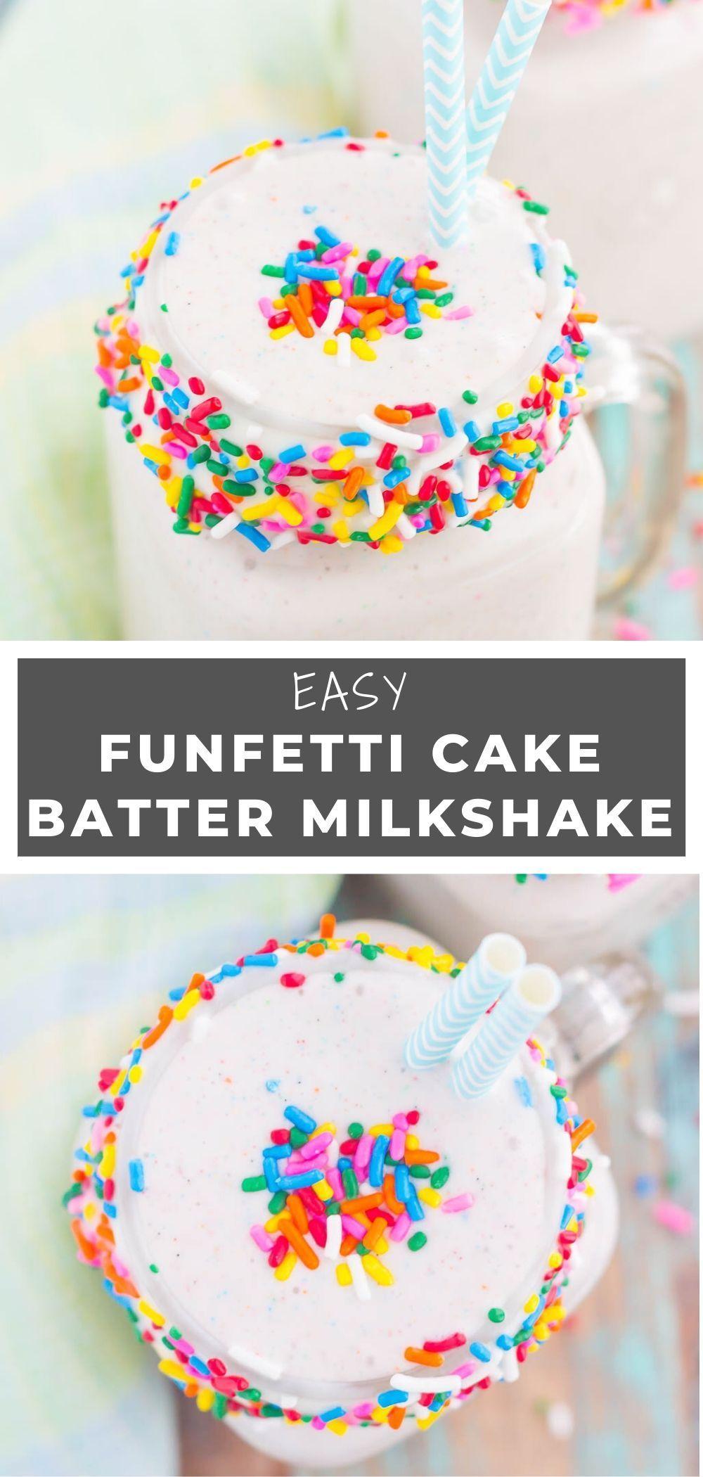 Creamy vanilla ice cream swirled with funfetti cake