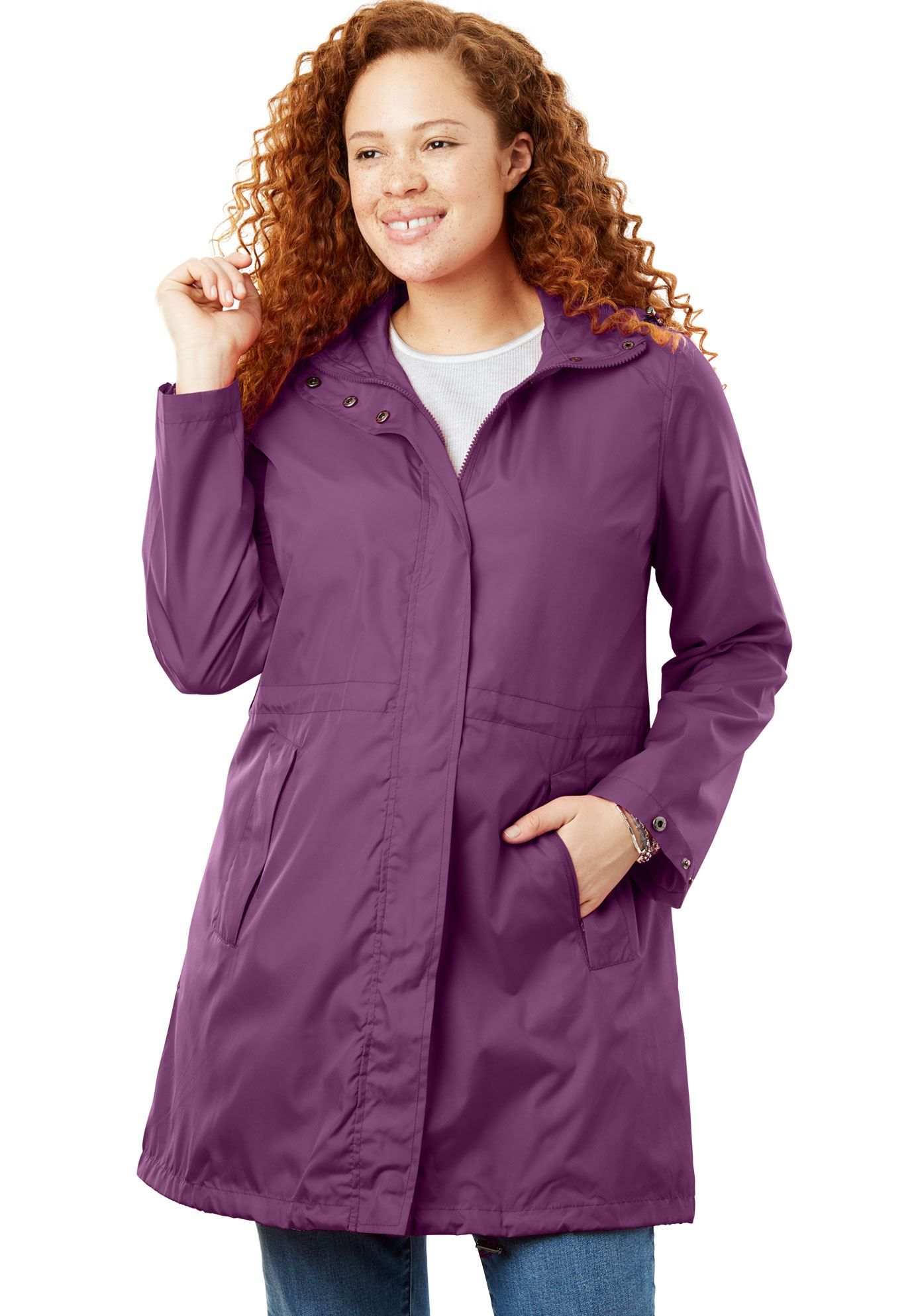78e6c24ce99 Packable Anorak Raincoat - Women s Plus Size Clothing