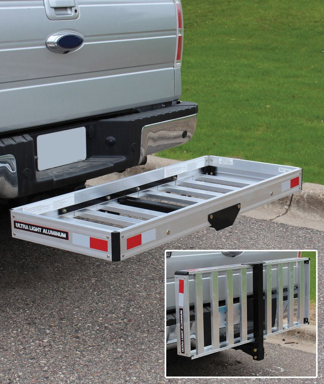 This Folding Aluminum Cargo Carrier Which Holds Up To 500