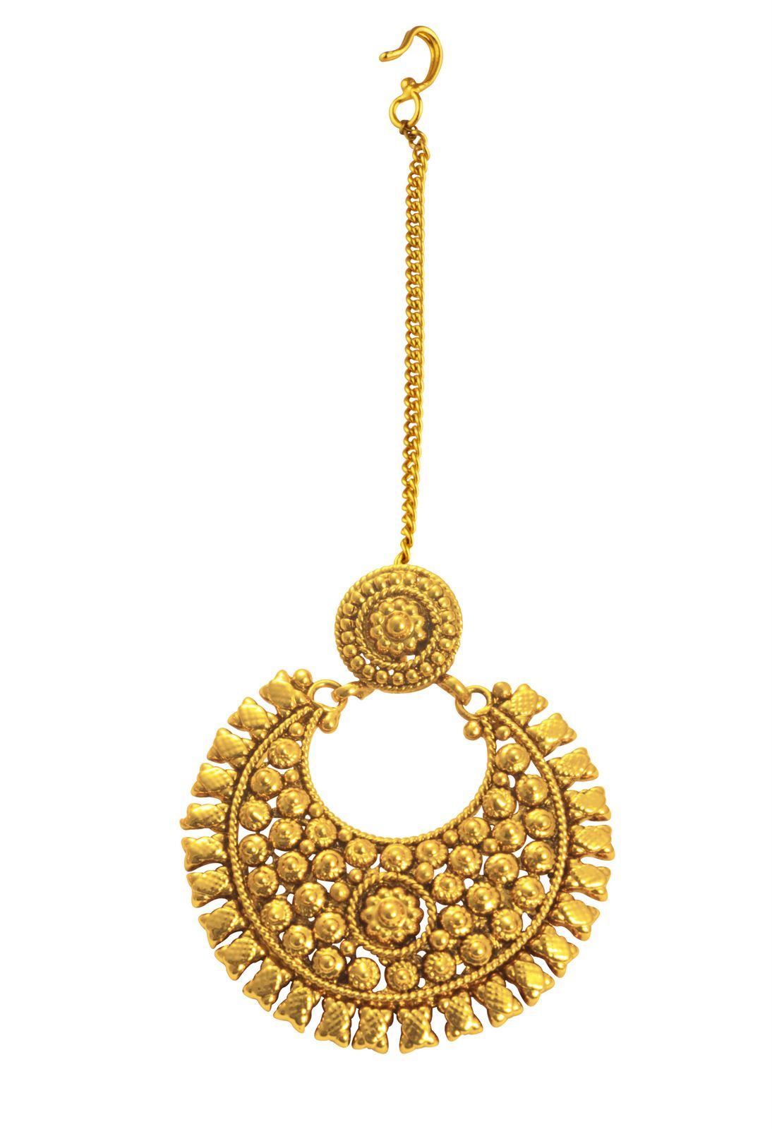 Golden maang tikka designs bridal jewellery bridal maang - This Antique Gold Head Ornament Gives A Radiant Look To The Fashionista Http