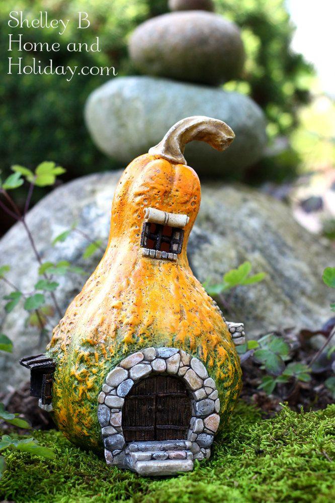 Gourd Fairy House with Light Miniature fairy gardens