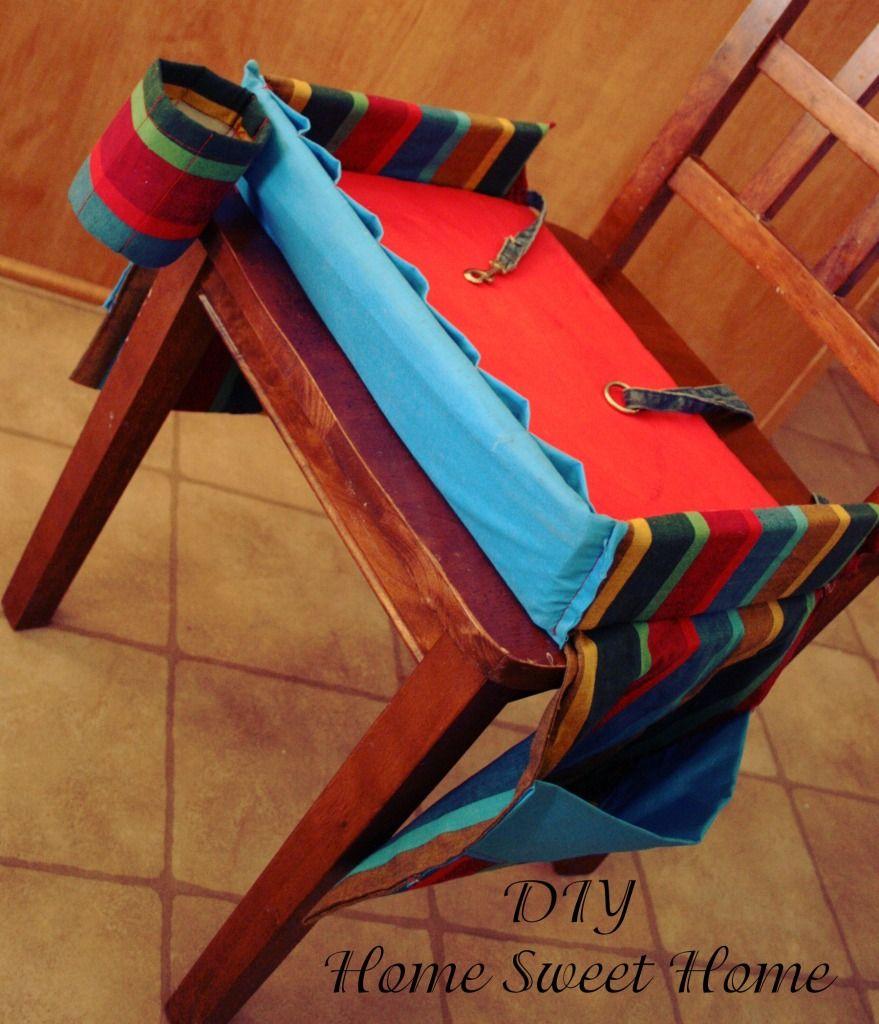 DIY Car Seat Lap Tray With Pockets