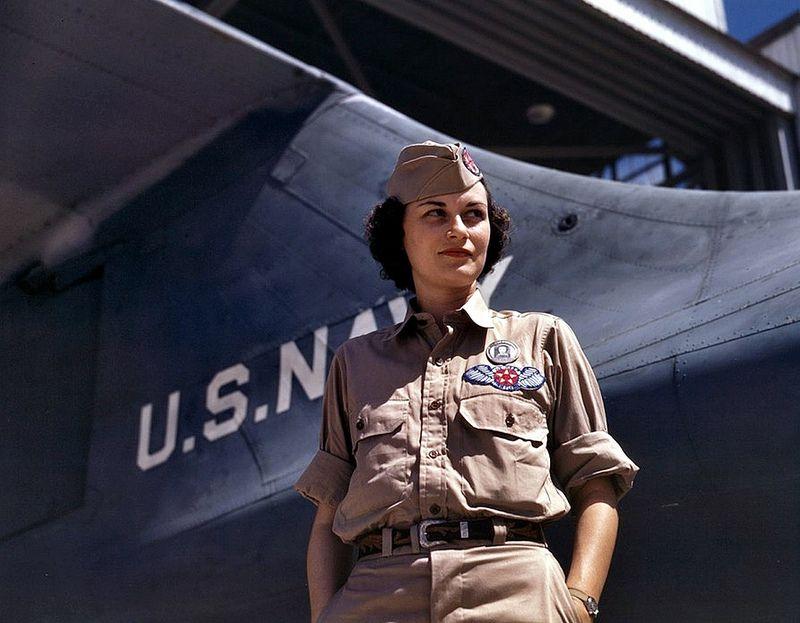 Aircraft - 1942, USA, Texas, Corpus Christi, Le chef de l'atelier de réparation de l'US Navy, Eloise J. Ellis