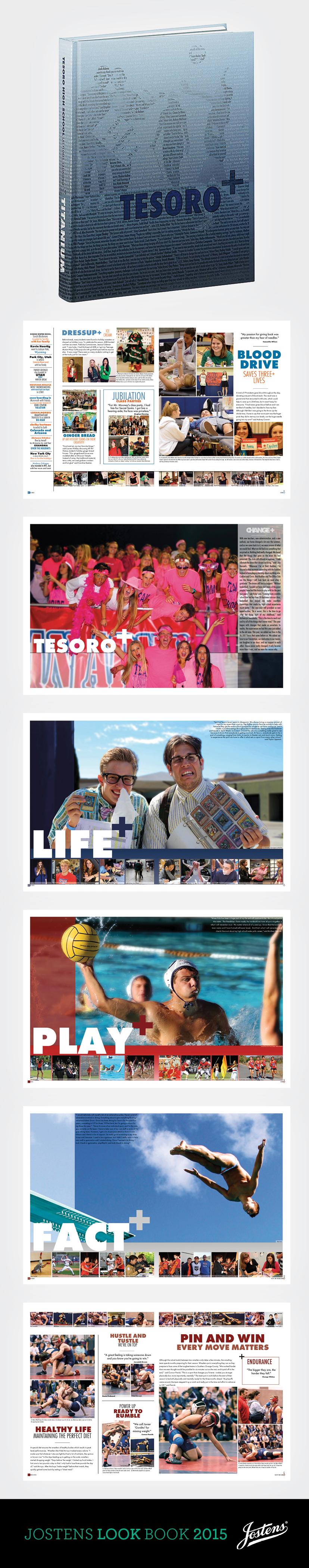 Titanium Tesoro High School Las Flores Ca Jostens Lookbook2015 Ybklove Yearbook Covers Themes Yearbook Covers Yearbook Layouts