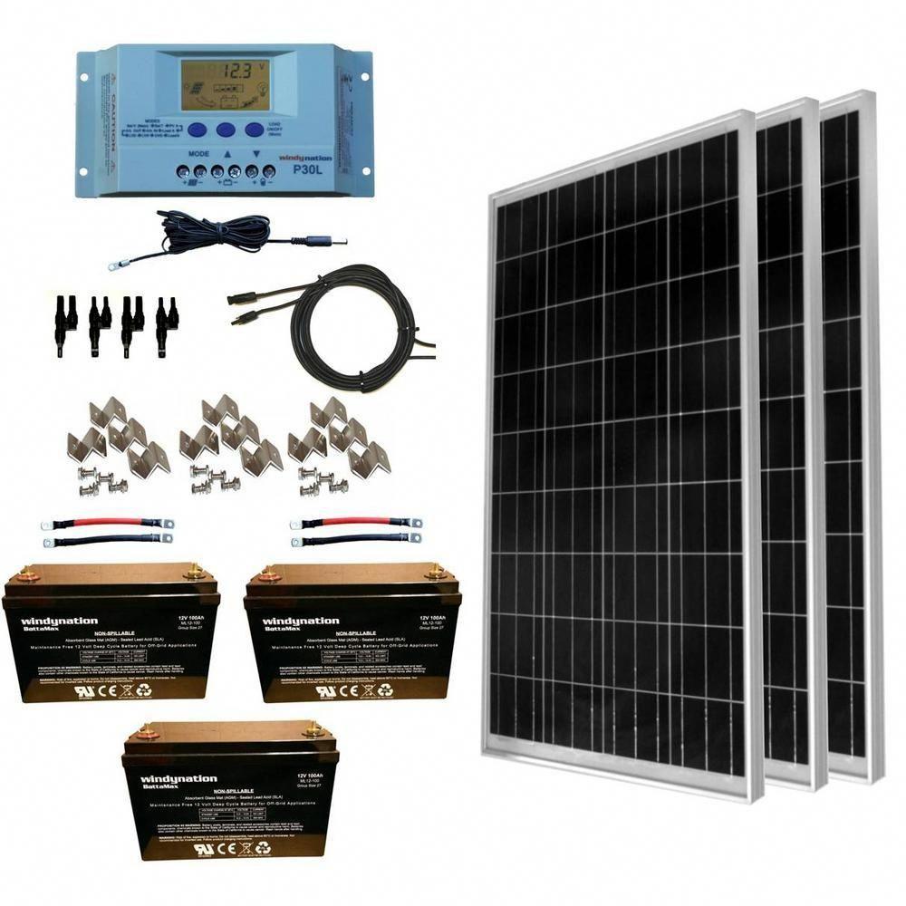 WindyNation 300Watt OffGrid Polycrystalline Solar Panel