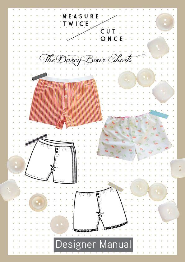 Free sewing pattern for boxer shorts | Cosas para ponerse ...