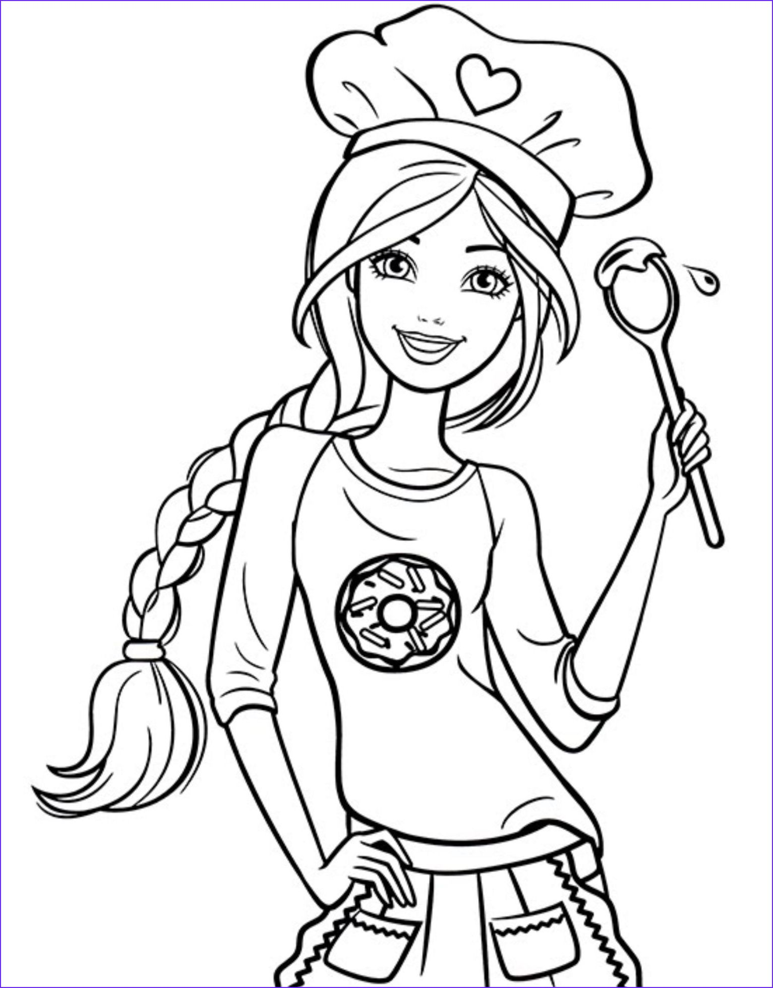 20 Elegant Barbie Coloring Pages Collection  Barbie coloring pages