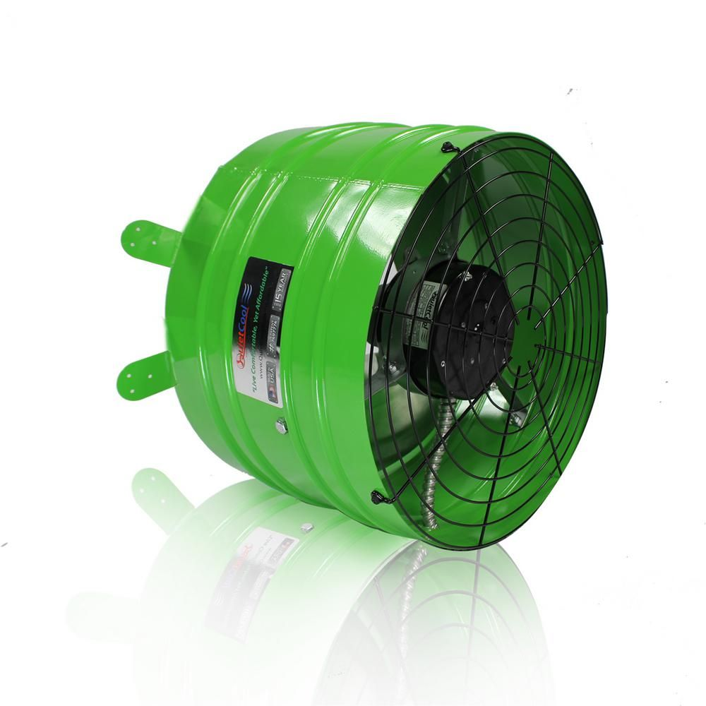 Quietcool Smart 2830 Cfm Power Gable Mount Attic Fan Green Wiring A Whole House
