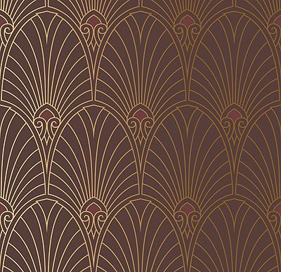 bradbury art deco designs havana deco fan wallpaper in mahogany home ideas pinterest. Black Bedroom Furniture Sets. Home Design Ideas