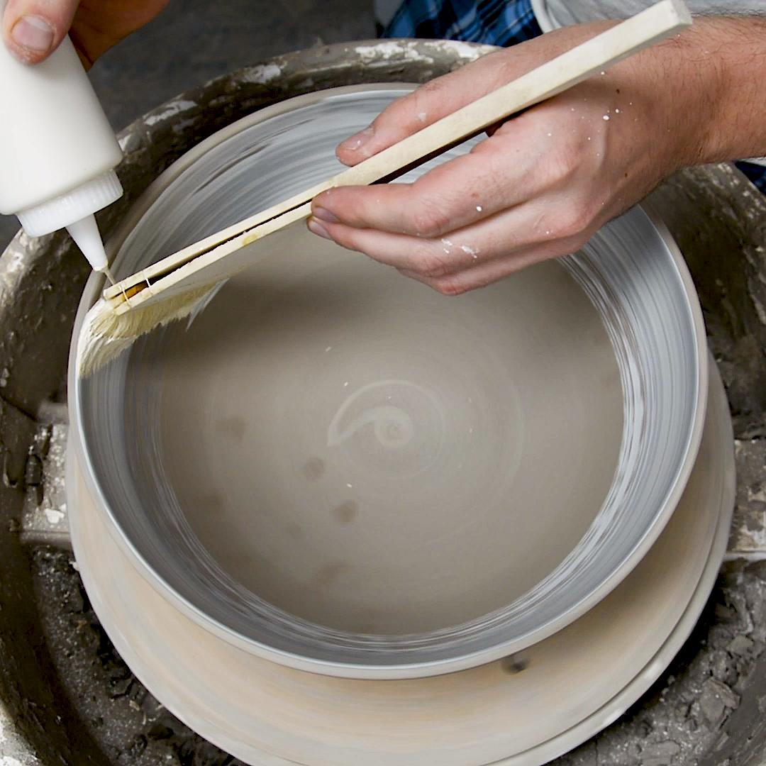 Efficient slip coating Hammerly Ceramics