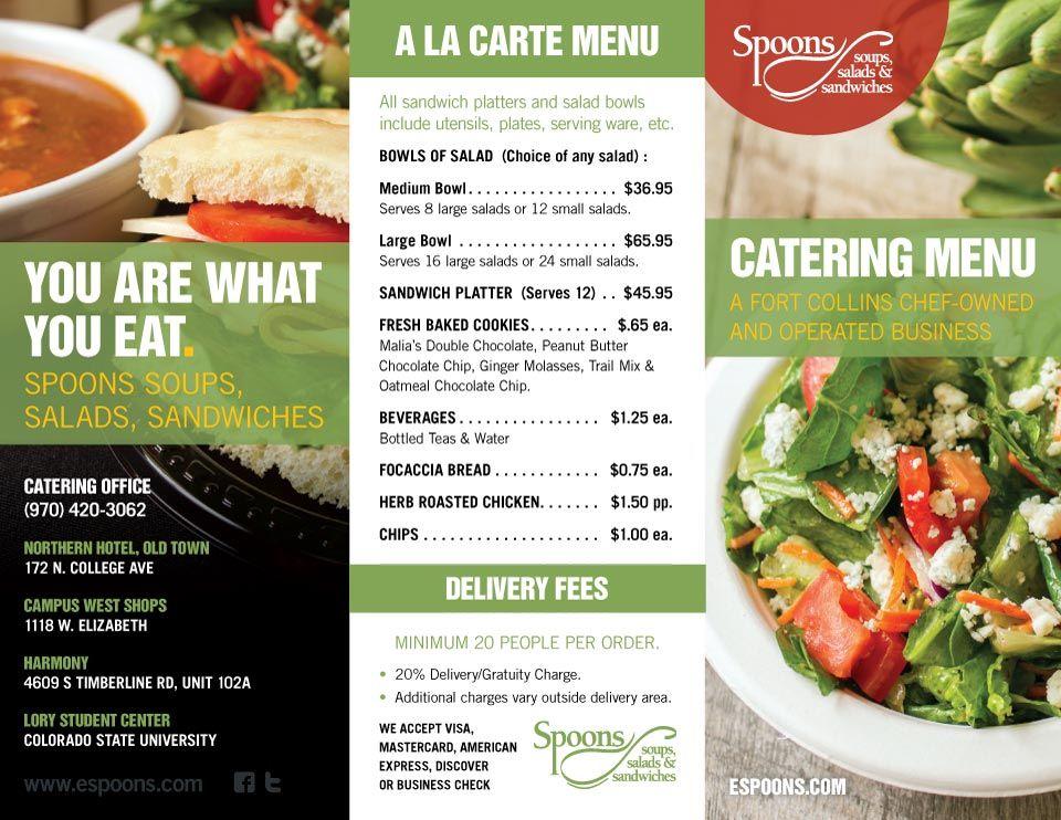 Spoons Catering Menu Catering menu, Sandwich platter