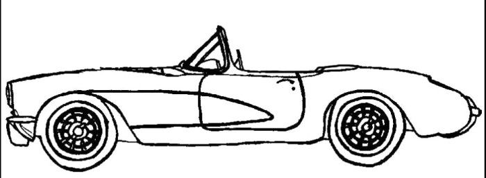 Cowtown Corvette Coloring Page Corvette Coloring Pages Color