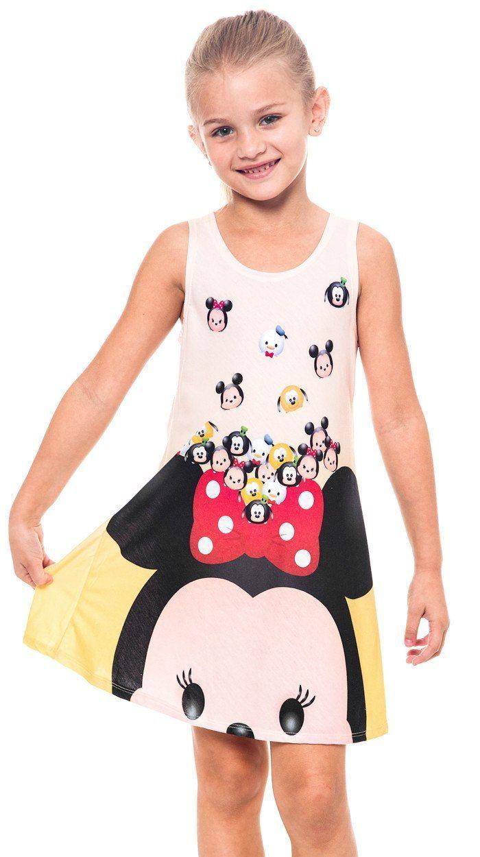 4e6d9b4129 Disney Tsum Tsum Girls Tank Dress