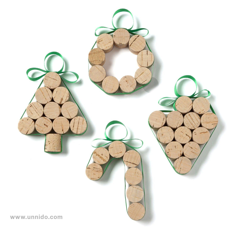 conjunto de decoracin para navidad piezas elaboradas de forma artesanal por personas con