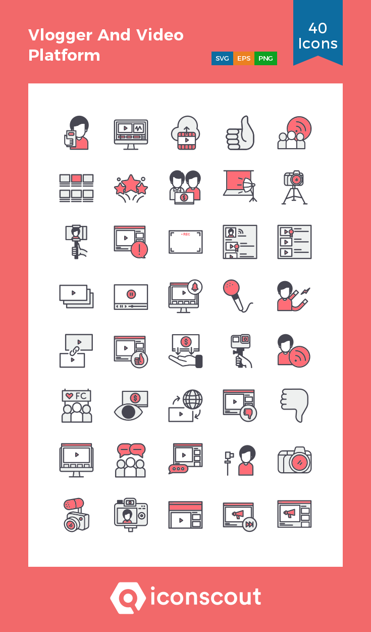 Download Download Vlogger And Video Platform Icon pack - Available ...