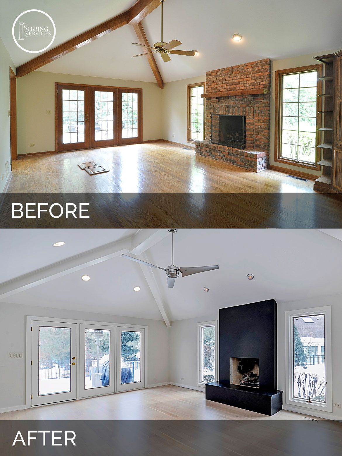 Jeff betsy 39 s kitchen before after pictures home - Living room renovation before and after ...