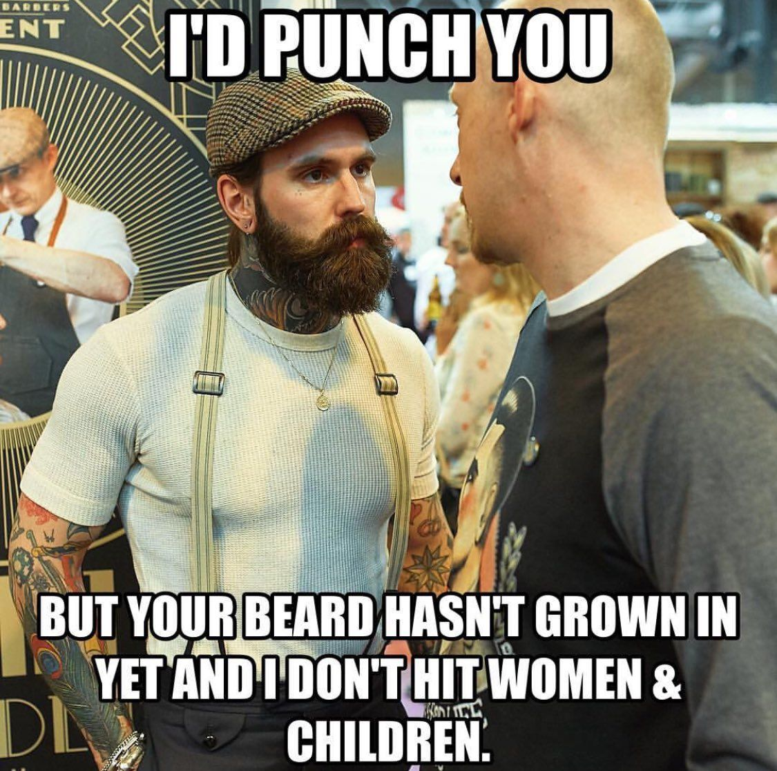 I'd Punch You But Your Beard Hasn't Grown In Yet And I Don
