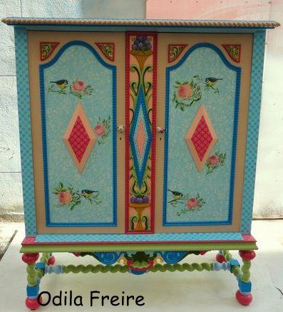 whimsical painted furnitureMveis pintados   Decorao interiores  Pinterest  Paint