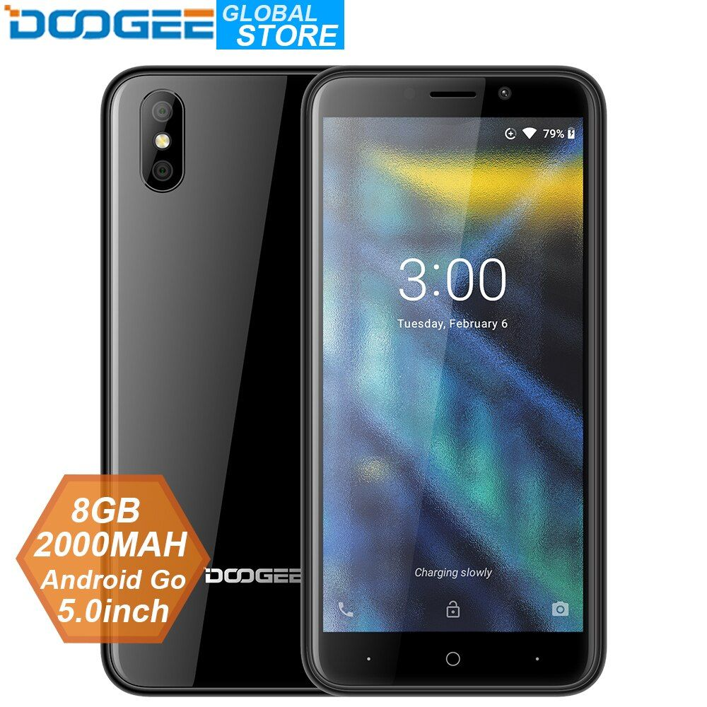 Good Offer For 2018 New Doogee X50 Mobile Phone Android Go Mtk6580m Quad Core 1gb Ram 8gb Rom Dual Cameras 5 0inch 2000mah Dual Sim Smartphone Di 2020