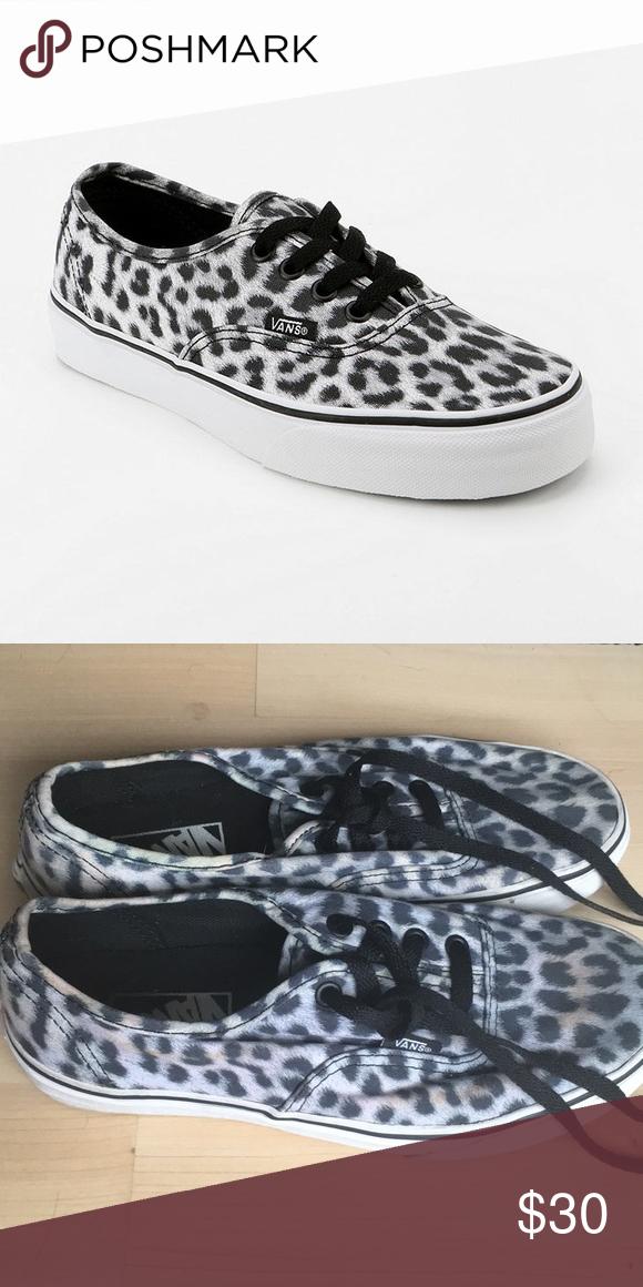 39cdebefa031fb White leopard vans • Leopard vans. Good condition. Bundle to save. Vans  Shoes
