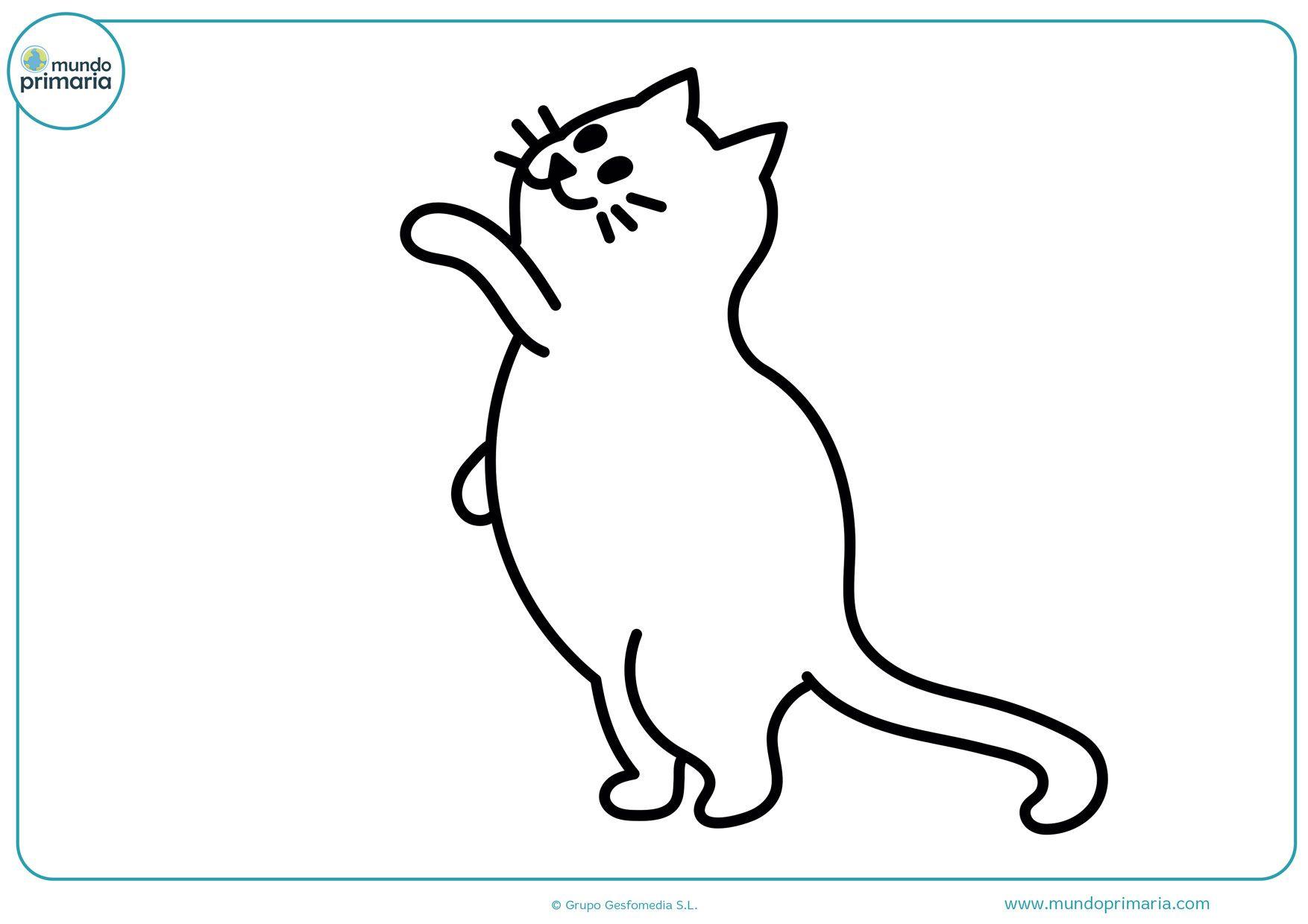 Dibujos De Gatos Para Imprimir Y Colorear Mundo Primaria Gatito Para Colorear Dibujos De Gatos Gatos