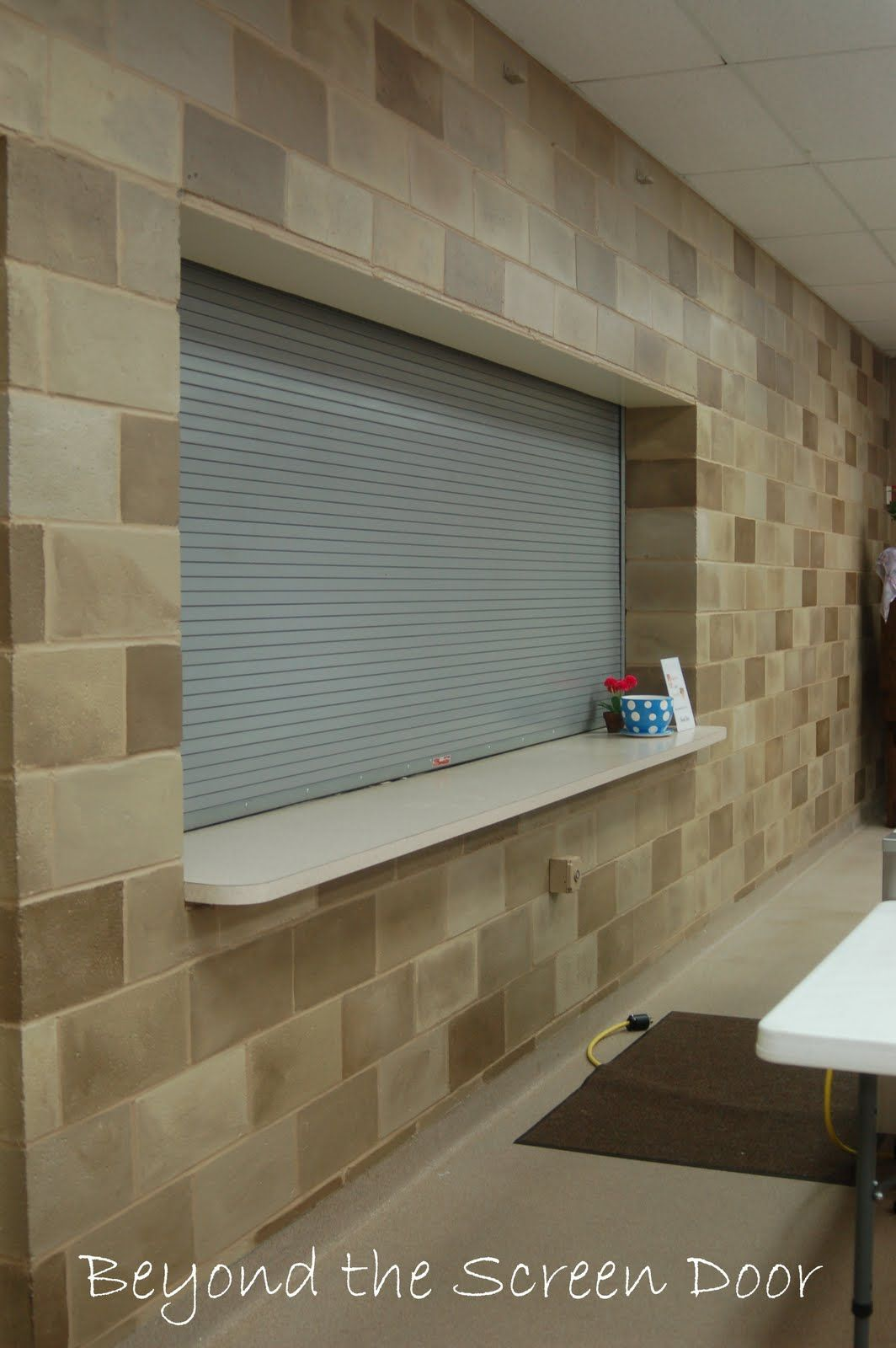 How To Paint A Concrete Wall To Look Like Stone Sonya Hamilton Designs Cinder Block Walls Concrete Block Walls Concrete Blocks