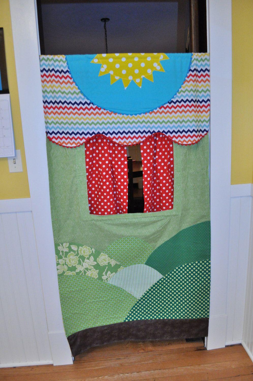 Made To Order Doorway Puppet Theater Doorway Puppet Theater Puppet Theater Fabric Puppet Theater