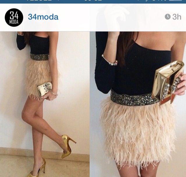 e1a79eee5 combinar falda plumas - Buscar con Google | clothes | Falda de ...