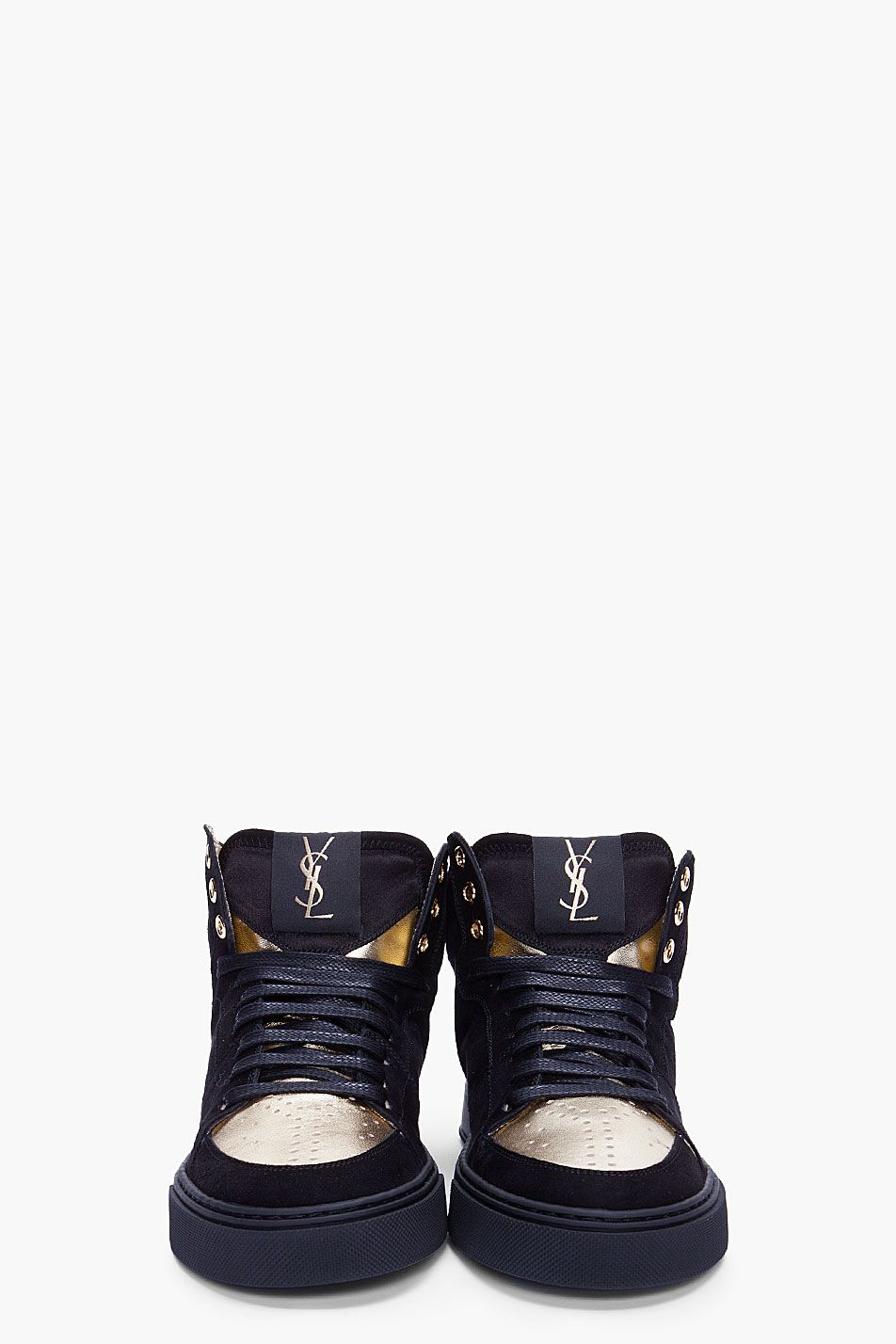 YVES SAINT LAURENT Black Suede Malibu Sneakers