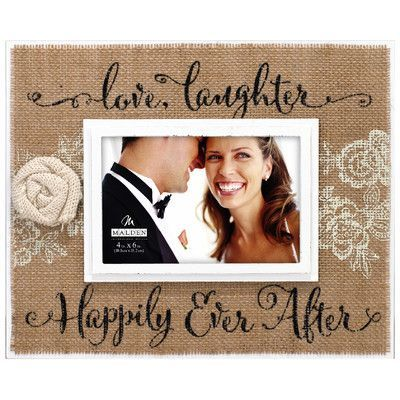 Malden Happily Ever after Burlap Picture Frame