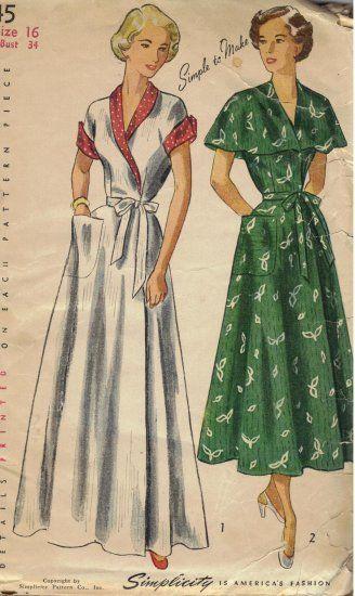 1949 Women s Wrap Around Brunch Coat 4a859e91f