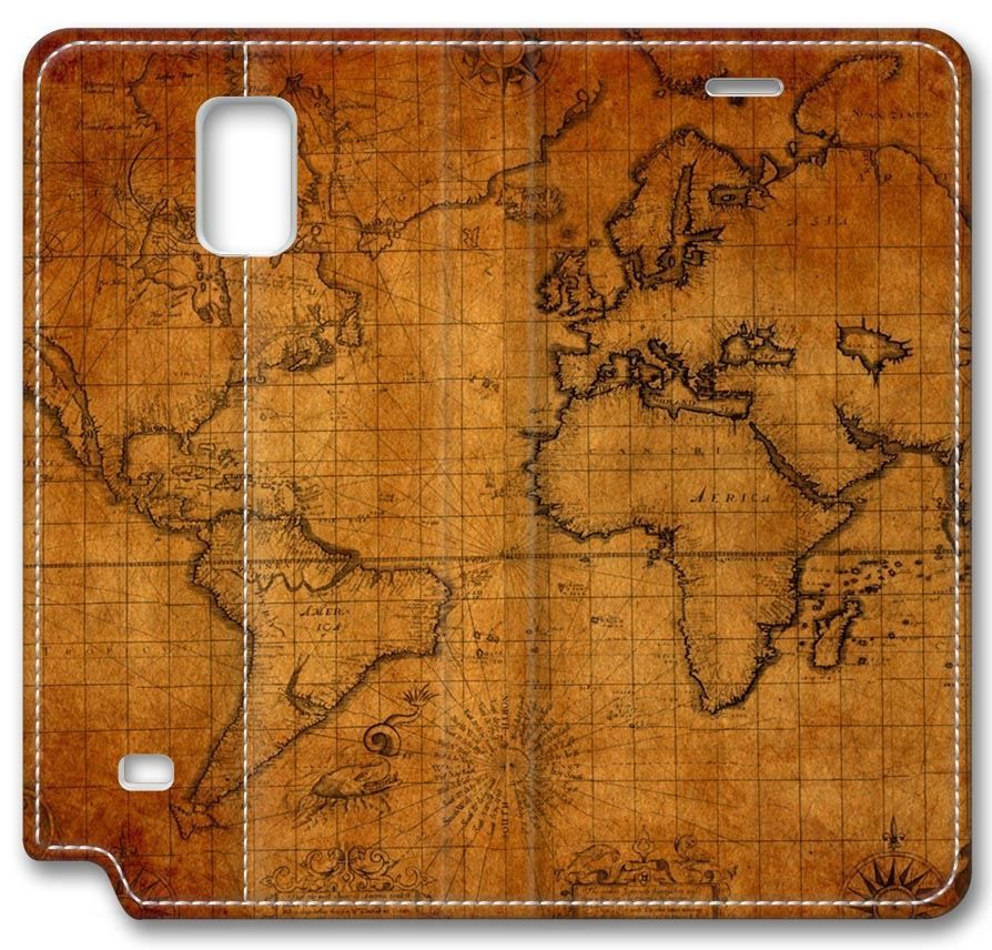 Digital art old world map leather cover for samsung galaxy note 4 digital art old world map leather cover for samsung galaxy note 4compatible with verizon gumiabroncs Gallery
