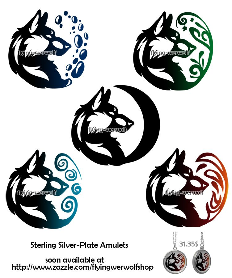 Wolf Tribal Necklaces Elements By Nathalienova On Deviantart Tribal Wolf Tattoo Tribal Drawings Wolf Pack Tattoo