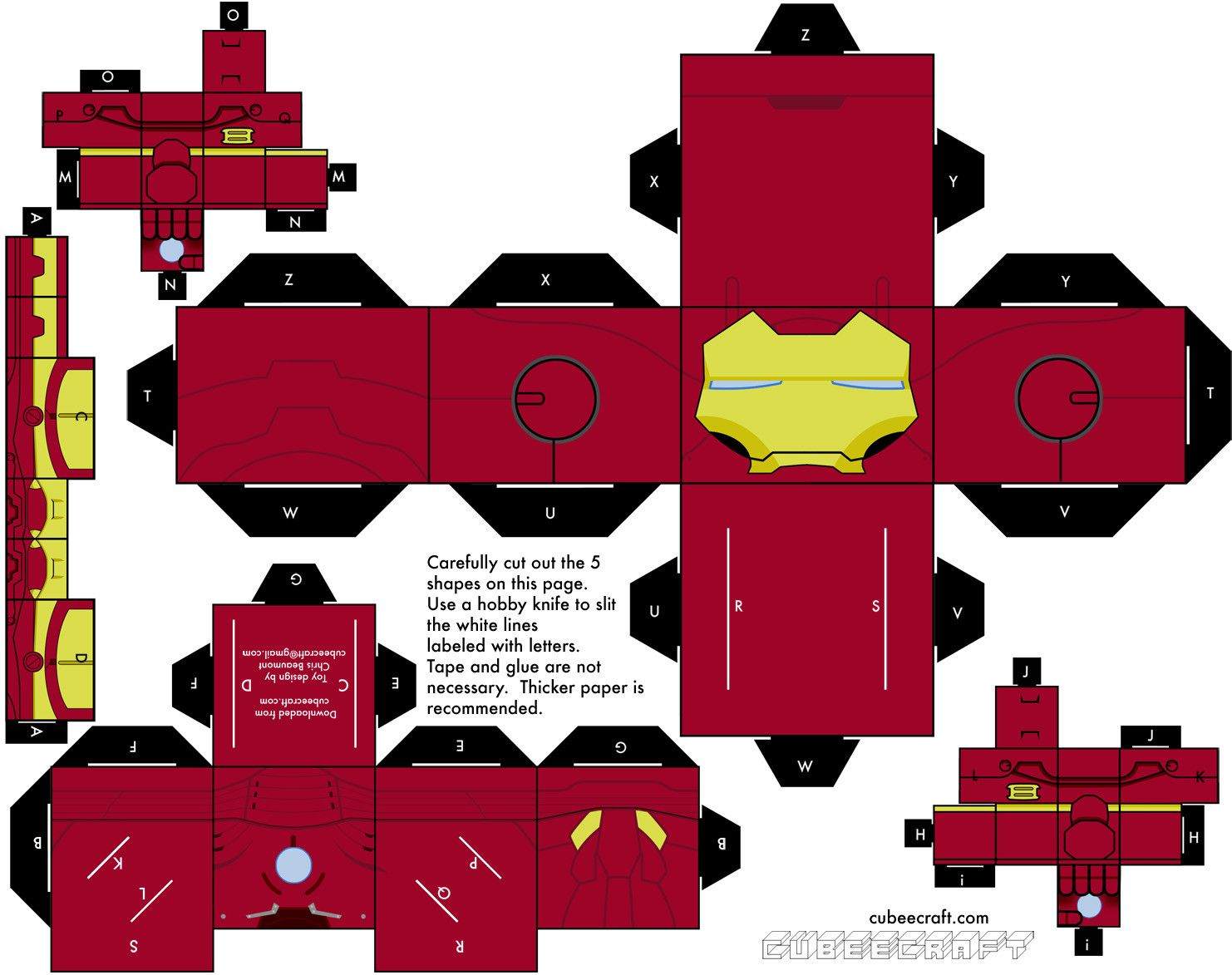 This is a picture of Superb Cubee Craft Template
