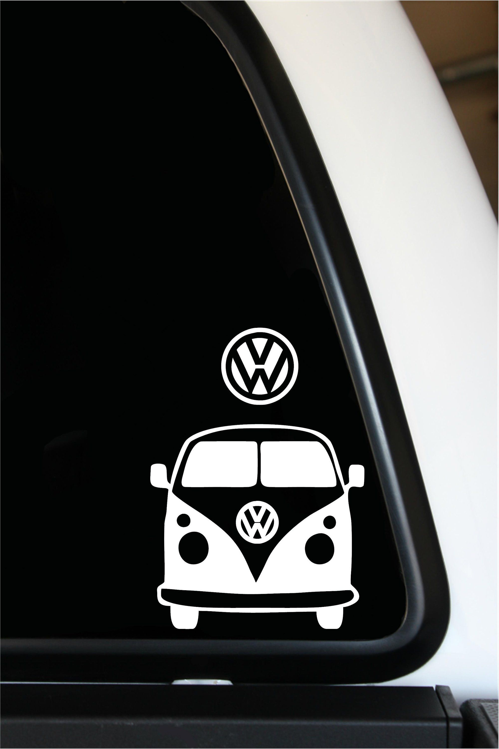 Vw bus 5 x 5 and vw 2 5 2 pack vinyl decal bumper sticker 3 99